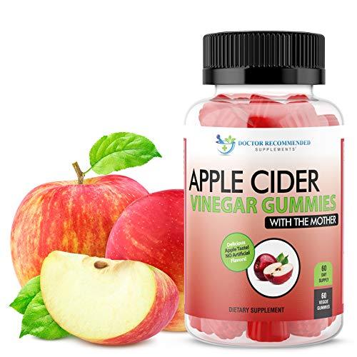Apple Cider Vinegar Gummy Vitamins – 60 Day Supply of Apple Cider Vinegar Gummies with The Mother, B9, B12, Gluten-Free…