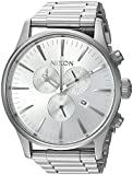 Nixon Men's 'Sentry Chrono' Quartz Stainless Steel Casual Watch, Color:Silver-Toned (Model: A3861920-00)