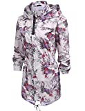 Unibelle Womens Waterproof Raincoat Jacket Outdwear Hooded Running Windbreaker Coat