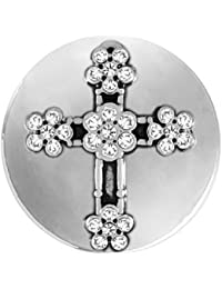 FLOWER STONE CROSS SN03-22 (Standard Size) Interchangeable Jewelry Accessories