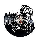 Harley Quinn and Joker Theme Vinyl Record Clock by Gullei.com Review