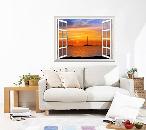 "wall26 - Self-Adhesive Wallpaper Large Wall Mural Series (24"" x32, Majestic Seascape)"