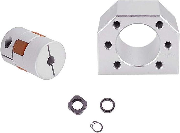 coupler end supports BK// BF12//15//20 Vis /à Billes CNC pi/èces SFU1204 RM1204//1610//2005//2010//2504//2505//2510 400mm-2600mm Diam 12mm//20mm//25mm with Ballnut and ballnut housing