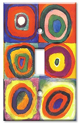Art Plates / Single Gang Toggle Switch Plate / Kandinsky: Farbstudie Quadrate (Art Single Toggle Switch)