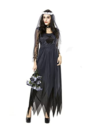 badi na girl womens deluxe lace victorian ghost bride costume halloween costume m