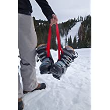 BootYo! Hands Free Ski Boot Carrier Strap- Perfect for carrying ski boots, Ice Skates or other gear and freeing hands.
