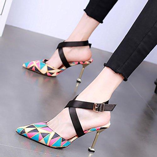 banchetto YMFIE temperamento stiletto tacchi partito sexy alti nuova 37 34 moda Estate tacco moda alto EU sandali EU rqCSBtPqw