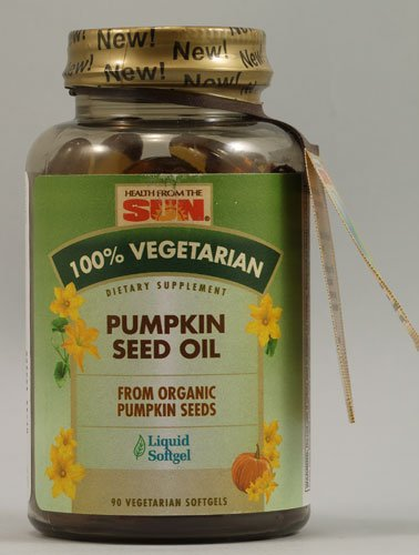 Sun Pumpkin Seed Oil - Health From the Sun Vegetarian Pumpkin Seed Oil -- 90 Vegetarian Softgels - 2pc