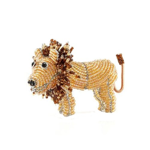 Grass Beadworx (Grass Roots Creations Lion Beadworx Sculpture, Mini, Yellow and Brown)