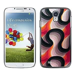 [Neutron-Star] Snap-on Series Teléfono Carcasa Funda Case Caso para Samsung Galaxy S4 [Líneas Blanco Violeta Negro abstracto]