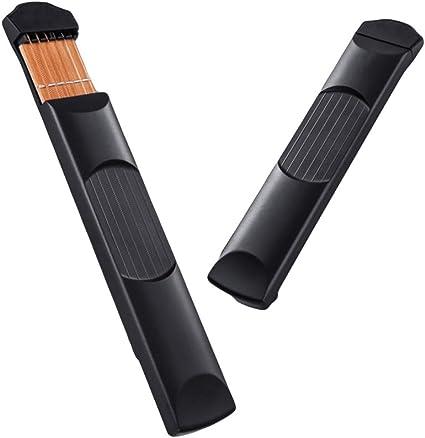 Longyitrade - Entrenador de instrumentos para teclado de 4 teclas para guitarra acústica de bolsillo, Negro: Amazon.es: Instrumentos musicales