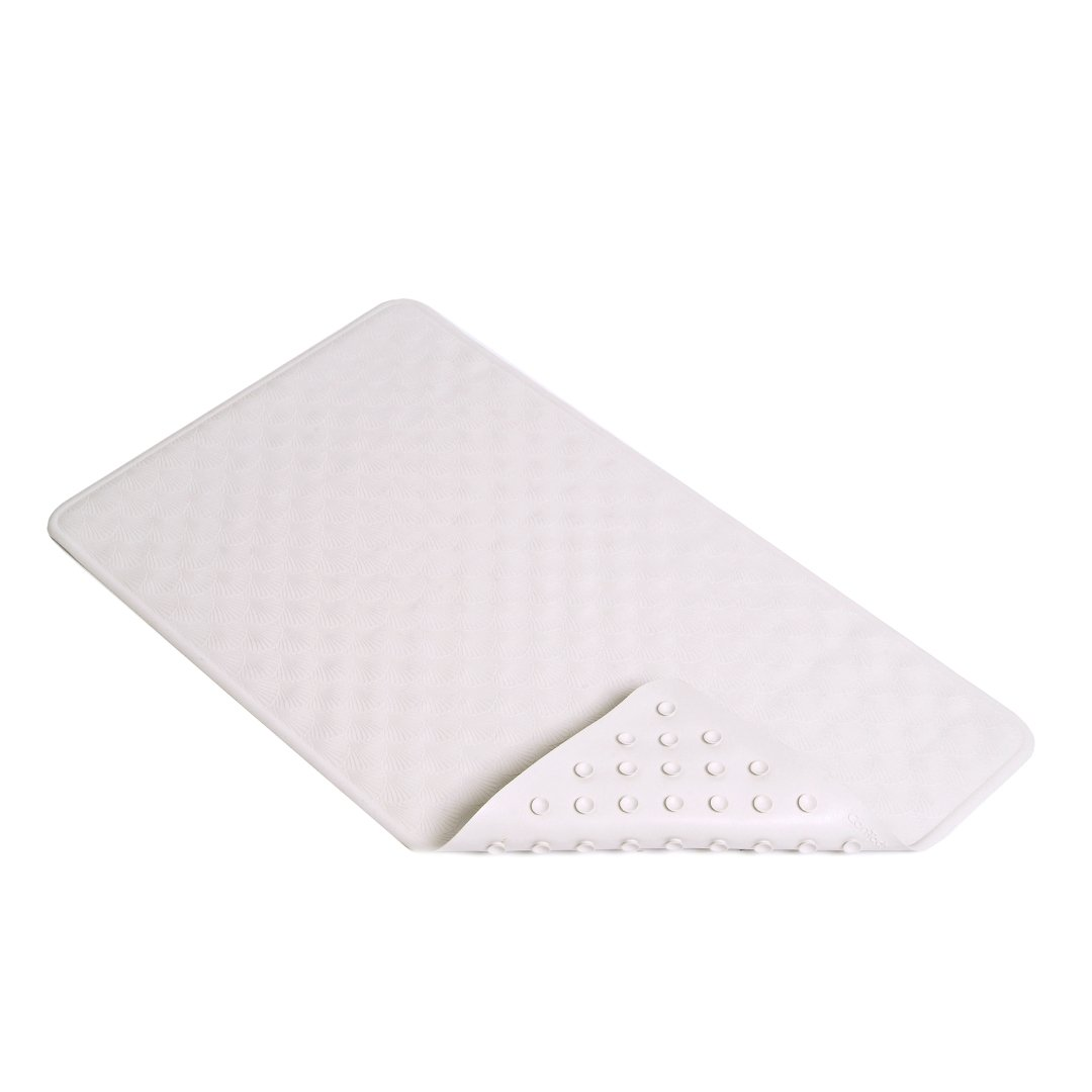 Con-Tact Brand 28-Inch by 16-Inch Rubber Bath Mat, White Shells BMAT-C4K04-04
