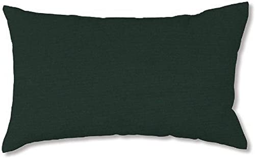 Plow Hearth 35674-001 Weather-Resistant Outdoor Classic Lumbar Pillow, 19 x 12 , Forest Green