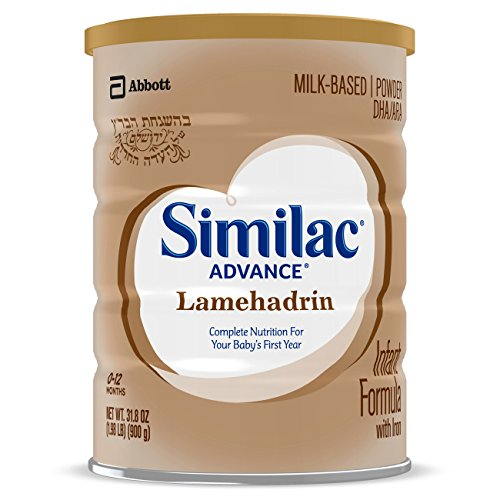 Similac Lamehadrin Badatz-certified Advance Infant Formula with Iron, Certified Kosher Baby Formula Powder, 31.8 ounce (Single Can)