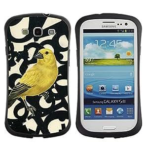 "Hypernova Slim Fit Dual Barniz Protector Caso Case Funda Para SAMSUNG Galaxy S3 III / i9300 / i747 [Números de aves Primavera Resumen""]"