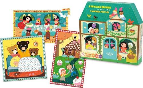 89b4960485ba0a Vilac Märchen Holz Puzzle Set (3-teilig)  Amazon.de  Spielzeug
