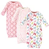 Touched by Nature Baby Organic Cotton Kimono Gowns, Butterflies, 0-6 Months