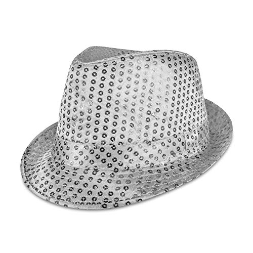 Supreme Party & Novelties LED Fedora, Silver -