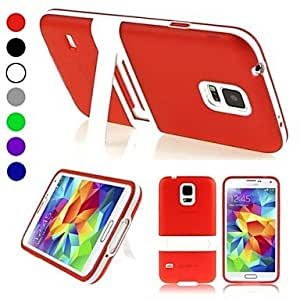 LHY Protective TPU Case with Holder for Samsung Galaxy S5 mini / G800 , Red