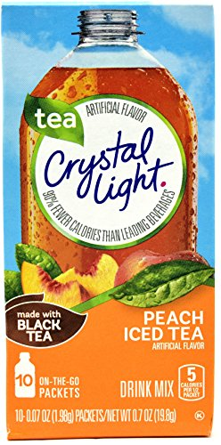 Crystal Light On The Go Peach Iced Tea, 10-Packet Box (Pack of 28) by Crystal Light