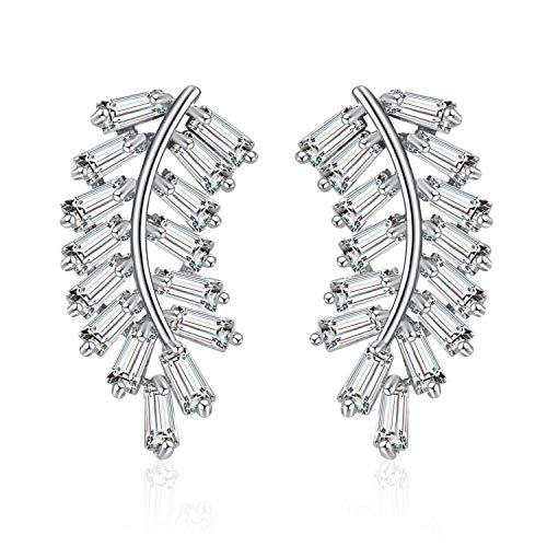 Cubic Zirconia Stud Earrings Classical Costume Jewelry for Women and Girls By Anmao