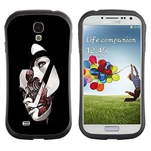 LASTONE PHONE CASE / Suave Silicona Caso Carcasa de Caucho Funda para Samsung Galaxy S4 I9500 / Sci Fi Abstract Womans Face