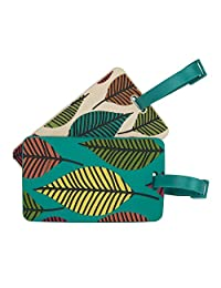 Travelon Set of 2 Luggage Tags Leaves, Multi, One Size