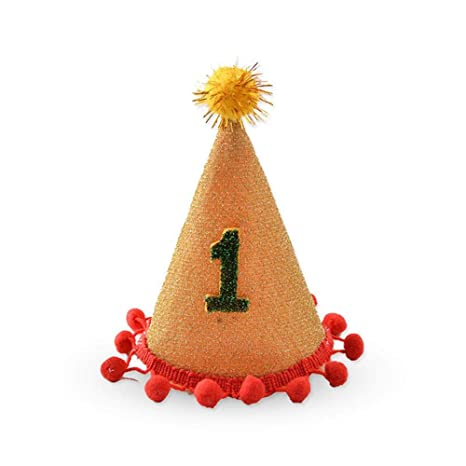 Aolvo Sombrero de cumpleaños para perro, sombrero de cono de ...