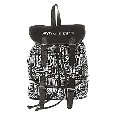 Claire's Accessories Justin Bieber Black and White Print Backpack