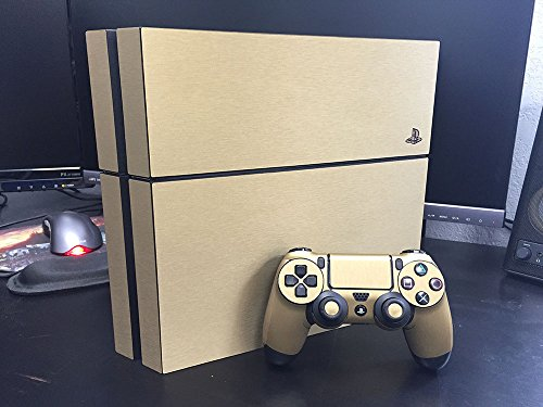 Sony PlayStation 4 Skin (PS4) - NEW - BRUSHED GOLD system skins faceplate decal mod - Buy Online ...