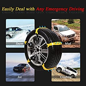 Snow Tire Chains Anti-skid Chain Mud Chains Anti-slip Chains for Cars Truck SUV Tire Emergency Winter Driving 10PCS