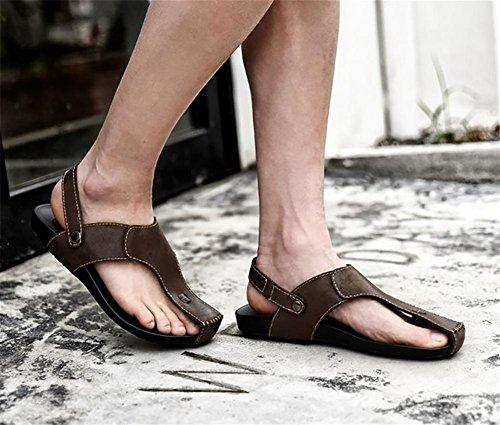 WXR Hombres Respirable Ocio Zapato Antideslizante Playa Sandalias Brown