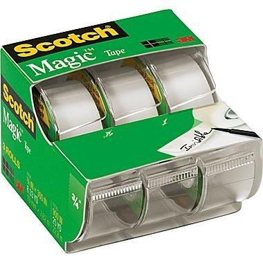 Scotch Magic Tape 3105, 3/4-Inch x 300-Inches, 3 Rolls (Magic Scotch)