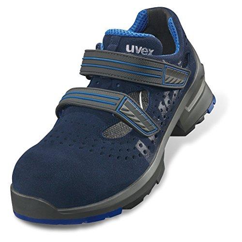 Uvex Zapatos de seguridad' Uvex 1S1metallfrei & # x202F;; GRAND Confort–particulièrement ligero & # x202F;; versch. Talla, azul, UVEX one Sandale Azul