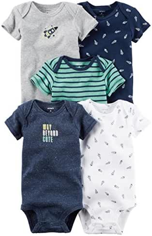 Carter's 5 Pack Colored Bodysuits (Baby Boy)