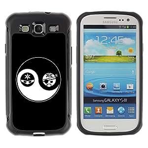 Hybrid Anti-Shock Defend Case for Samsung Galaxy S3 / Yin & Yang