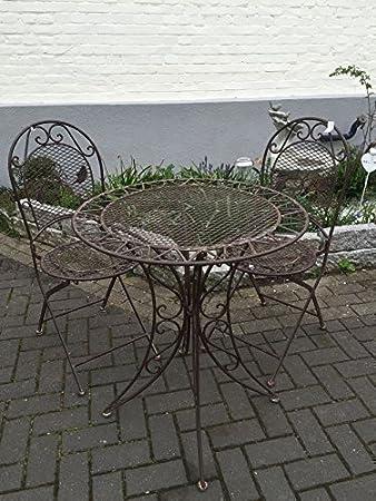 Gartenmöbel Sitzgruppe Garnitur Balkon Set Metall Tisch 2 Stühle ...