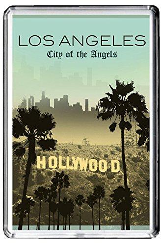 (GIFTSCITY B433 HOLLYWOOD LOS ANGELES USA FRIDGE MAGNET USA VINTAGE TRAVEL PHOTO REFRIGERATOR MAGNET)