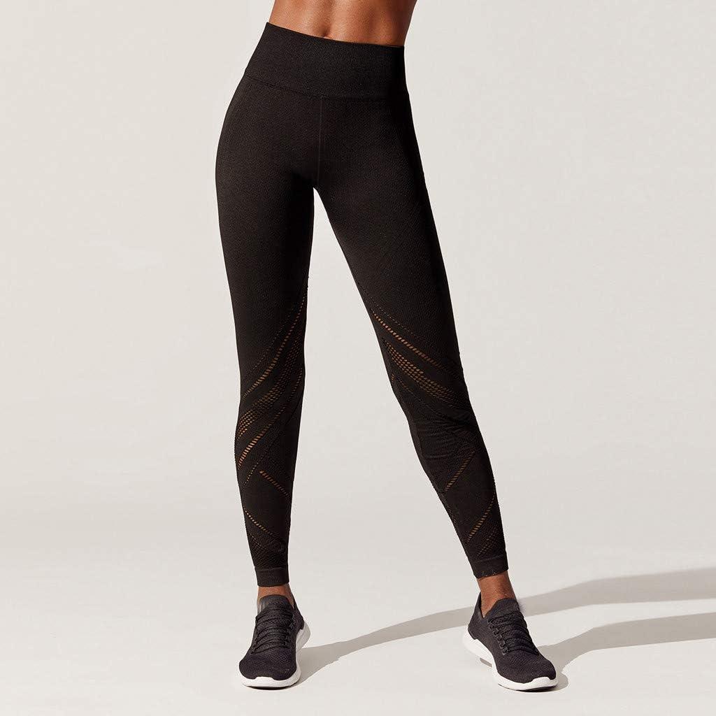 Yesmile Damen High Waist Leggings Jogginghose Yoga Fitness Leggings Tights Frauen Leggins Yogahose Mesh Sporthose Fitnesshose Elatisch Patchwork Trainingshose Laufenhose Fitness Yoga Pants