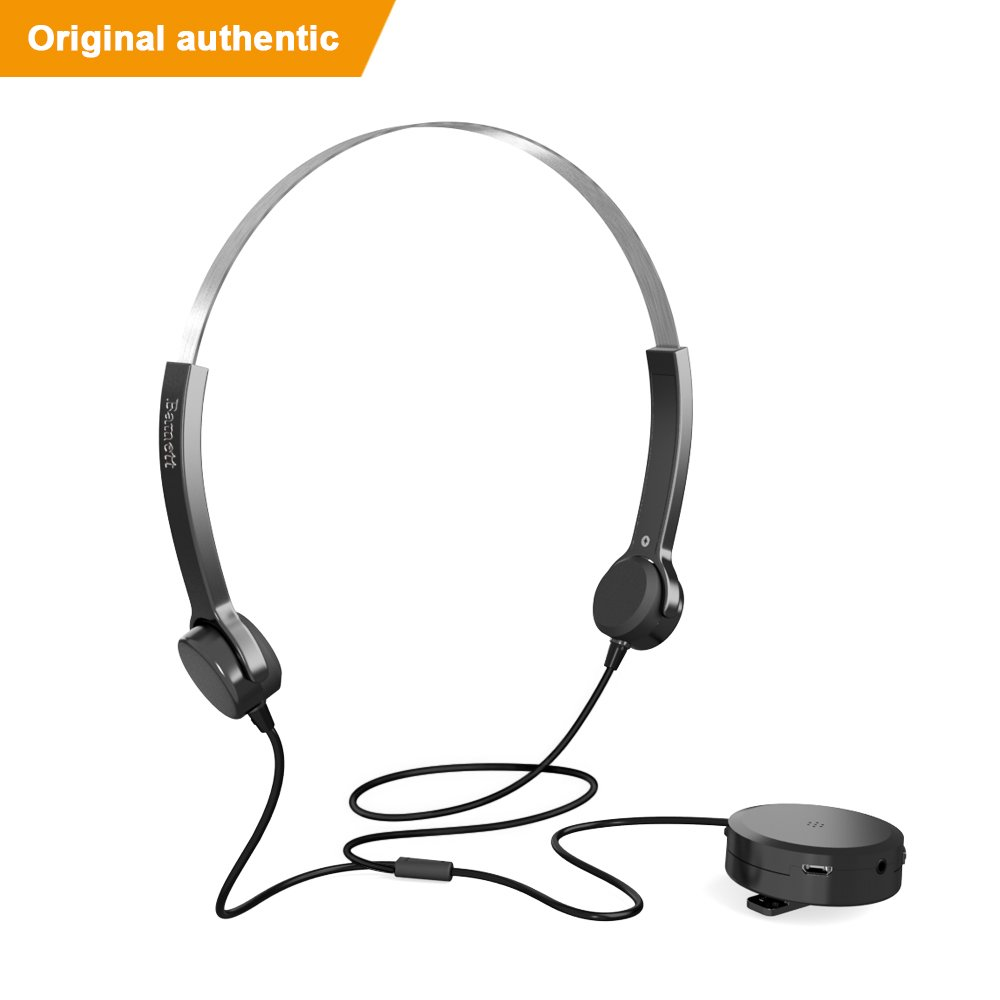 Bamett Bone Conduction Headphone Sweatproof Sportin headset earphone with Noise Cancelling Microphone for smartphone PC