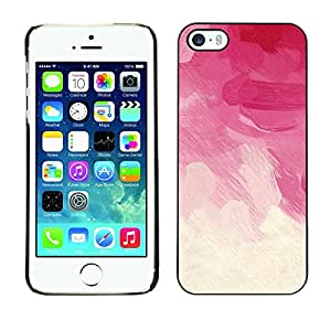 For Apple iPhone 5 / iPhone 5S,S-type® White Beige Pastel Rose Spring Clouds - Arte & diseño plástico duro Fundas Cover Cubre Hard Case Cover