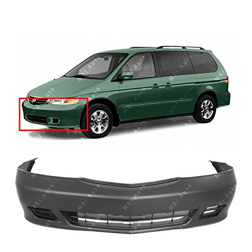 MBI AUTO - Primered, Front Bumper Cover Fascia for 1999-2004 Honda Odyssey 99-04, HO1000183