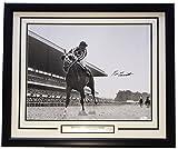 Ron Turcotte Signed Framed 16x20 Secretariat Belmont Victory White Mat Photo JSA