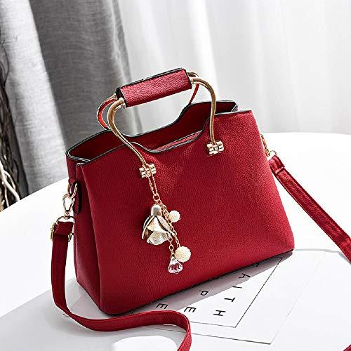 Semplice Xwh Diagonale Selvaggia Tracolla Quadrata Inverno Borsa Fashion Rosso Autunno rosso Borsetta Donna E centimetro TrzpRT