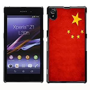 Shell-Star ( National Flag Series-People's Republic of China ) Snap On Hard Protective Case For SONY Xperia Z1 / L39H / C6902 / C6903 / C6906