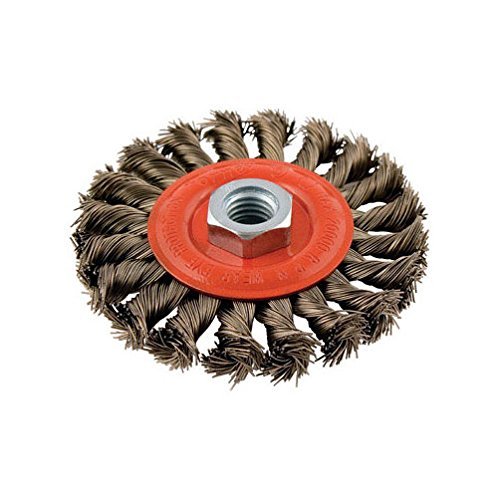 Forney 72759 Wire Wheel Brush, Twist Knot with 5/8-Inch-11 Threaded Arbor, 4-Inch-by-.020-Inch, Sold as 3 Pack
