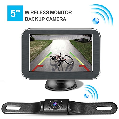 Wireless Backup Camera with Monitor System 5'' LCD Wireless Monitor Rearview Revering Rear View Back up Camera for Backing Parking Car Vehicle E5 eRapta by eRapta