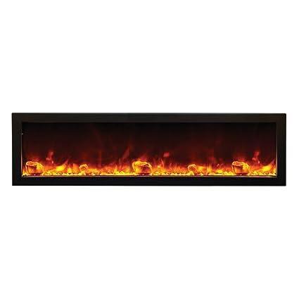 Amantii BI 60 SLIM OD Outdoor Panorama Series Slim Electric Fireplace, 60