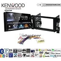 Volunteer Audio Kenwood DDX9704S Double Din Radio Install Kit with Apple Carplay Android Auto Fits 2006-2013 Suzuki Grand Vitara