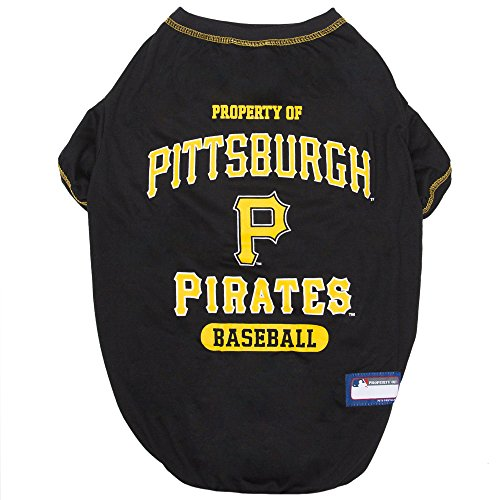 MLB Pittsburgh Pirates Dog T-Shirt, X-Large. - Licensed Shirt for Pets Team Colored with Team Logos